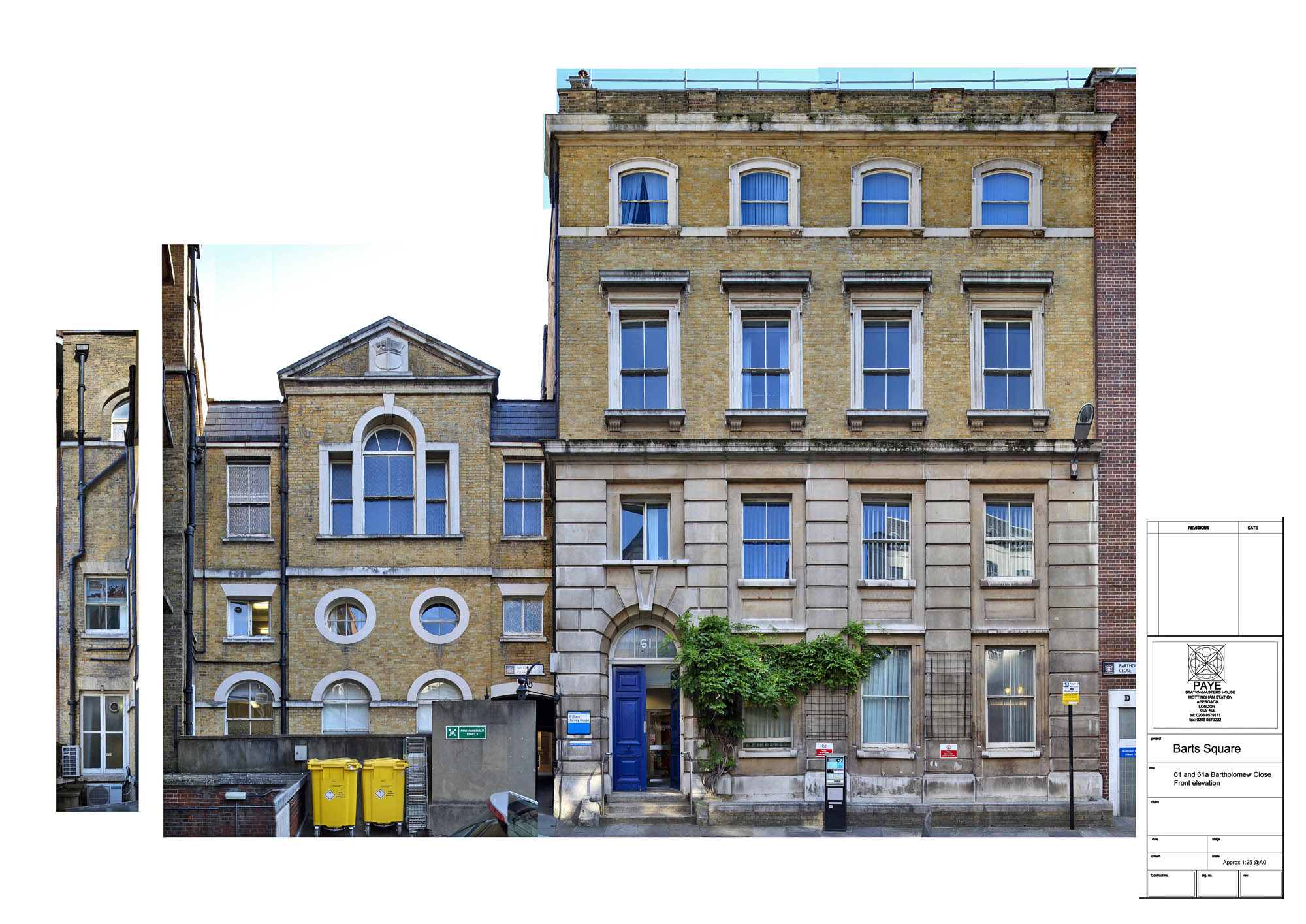 Front Elevation Square : Barts square front elevation a s peter jeffree