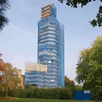 Hadlow Tower - Peter Jeffree Architectural Photography - Scaffolding