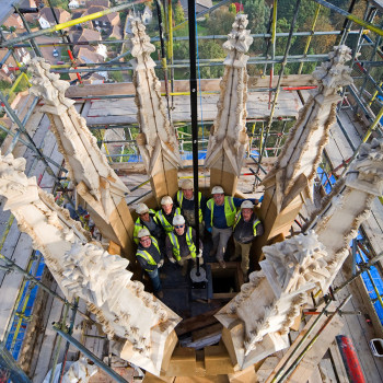 Hadlow Tower - Peter Jeffree Architectural Photography - Topping Out