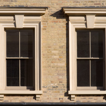 Peter Jeffree - Architectural Photographer - Whitechapel Road - phase 1 window detail - tuck pointing