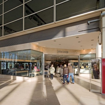 Peter Jeffree - Architectural Photographer - John Lewis Milton Keynes - corner entrance