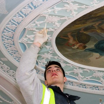 Peter Jeffree - Architectural Photographer - Kenwood House - Adam Library ceiling painting
