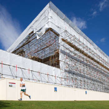 Peter Jeffree - Architectural Photographer - Kenwood House - Scaffold enclosure